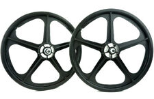 "Skyway Tuff Wheel II 20"" BMX Mag Wheels Black USA Made"