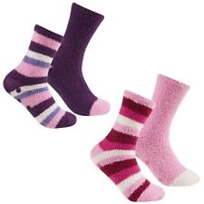 4 Pairs Of Women's Stripes Cosy Slipper Socks, Soft Fluffy Soft Socks Gift, B398