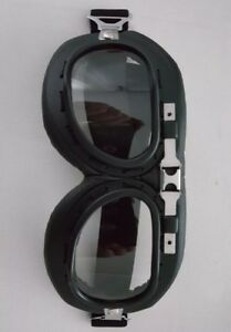 Clear Retro Motorcycle Goggles