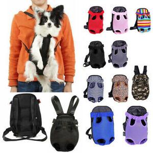 Nylon Mesh Carrier Backpack Front Bag Tote Sling Holder For Pet Puppy Dog Cat