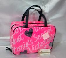 Victoria's Secret Signature Travel Cosmetic Organizer Makeup Bag Case Hot Pink