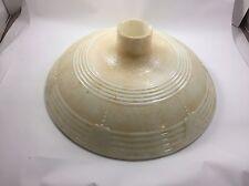 "Antique 16"" EMBOSSED TORCHIERE Floor LAMP SHADE MILK GLASS Funeral Art Deco"