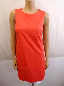 PESERICO Designer Kleid Gr.36 I42 Etuikleid Dress Rot Orange Weißes Unterkleid