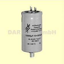 1 pc.  Kondensator Elko Becher F&T 4700uF 100V  Lötfahnen und Befestigungsbolzen