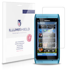 iLLumiShield Phone Screen Protector w Anti-Bubble/Print 3x for Nokia N8