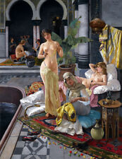 Classical oil painting harem naked woman Giclee Art Printed on canvas L2201