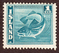 Iceland 217  1E Cod Fish Prussian Blue
