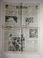 N795 La Une Du Journal Le Matin 8 juin 1942 chute de tchou-tchéou imprenable