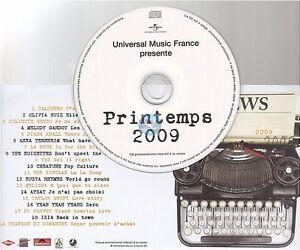 UNIVERSAL PRINTEMPS 2009 compilation CD PROMO calogero taylor swift pj harvey