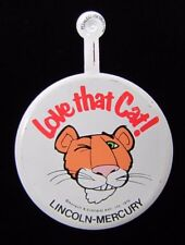 1976 LOVE THAT CAT! LINCOLN MERCURY Auto Advertising Fold Over Pin Ford Car Ad