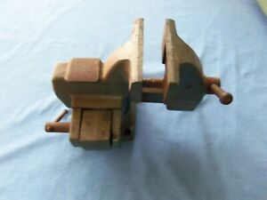 "Vintage 4"" WILTON FLIP-GRIP Bench Vise  w/ Swivel Base Made in USA"