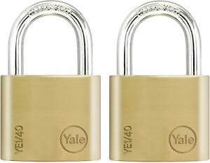 2 X Yale Padlocks Hardened Security Steel Lock Outdoor Gates Sheds Keyed Alike