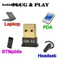 Bluetooth 4.0 USB CSR8510 Dongle Adapter for PC LAPTOP WIN XP VISTA 7 8 Portable