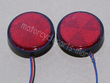 2x Round Reflector RED LED Rear Tail Brake Stop Light Third Toyota COROLLA New