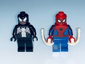 LEGO MARVEL SPIDER-MAN AND VENOM MINIFIGURES SPLIT FROM 40454 - NEW