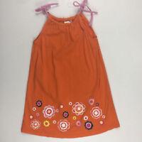 Hanna Andersson Girls US 5 110 Orange Flower Summer Spring Dress