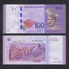 New listing 2012 Malaysia 100 Ringgit P-56a Unc > King Tuanku Abdul Rahman Hibiscus