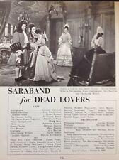 M3-1 Ephemera 1949 Picture Article Film Saraband For Dead Lovers S Granger