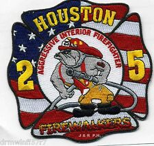 """Houston  Station-25  """"Firewalkers  old style"""", TX  (4.5"""" x 4.5"""" size) fire patch"""