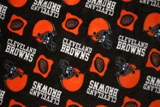 1 NFL CLEVELAND BROWNS FLEECE PRINT STANDARD PILLOW CASE-19X25 SOLID BLACK BACK