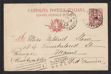 Italy H&G 26 used 1906 10c Postal Card to Bangor, Maine