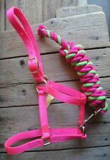 Miniature Horse HOT PINK Halter & Cotton Lead USA made!