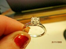 375 solid gold white with diamonds engagement ring..originally Ernest Jones