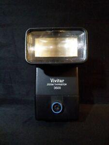 Vivitar Zoom Thyristor 3500 DM/C Shoe-mount Flash - Tested & Working