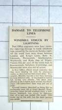 1936 Windmill At Great Bentley Essex Struck By Lightning Sail Hurled 250 Yards