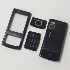 Alloggiamento Pieno Fronte-retro e Tasti Per Nokia 6500 Scorrevole 6500s Nera
