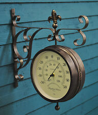 Wall Clock Thermometer Station Clock Double Sided Marylebone Outside In Designs