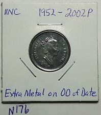 ERROR 1867-1992 Extra Metal on 00's CANADA 5 Cent Nickel Uncirculated From Roll