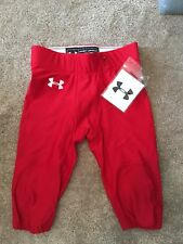 (231) UNDER ARMOUR MENS LARGE FOOTBALL PANT $125 RETAIL RED