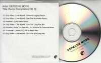 DEPECHE MODE Remix Compilation CD 15 official 2002 UK Mute 7-trk promo only CD-R