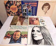 184 Lot 7 LPs+Streisand Live+Neil Diamond+Steve& Eydie+Mitch Miller+Golden Dozen