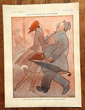 1920s La Vie Parisienne French Magazine Page-- The Surprise of Autumn