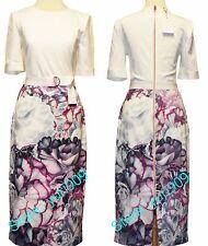 Ted Baker London MID PURPLE STEPHIE Illuminated Bloom Dress Size 5 (US 12) $295