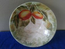"Tabletops Unlimited Mixed Fruits Serving Bowl/Dish Peach 9"" x 2.5"""