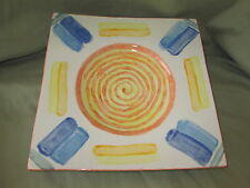 Decorative Abstract Art Bowl (handpainted) Signed LB 97 (Swirl)