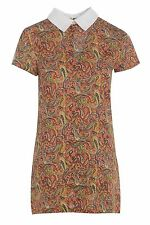 Viscose Collar Paisley Dresses for Women