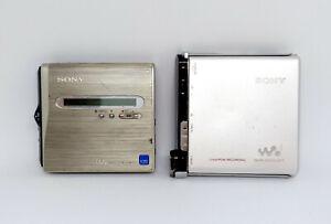 Sony Walkman MZ-NH1 & MZ-RH1 Portable MiniDisc MD player/recorder *NH1 Works*