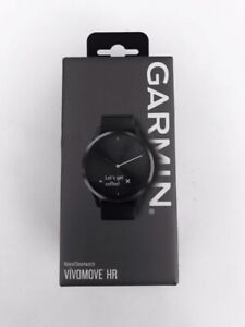Garmin vivomove HR Sport Black Hybrid Smartwatch with Silicone Band - Large