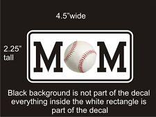 Baseball Mom car vinyl decal great stocking stuffer bumper sticker NEW