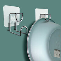 Stainless Steel Washstand Kitchen Wall Hanging Rack Hanging Hook Storage RaS.zh