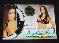 2014 Benchwarmer ANGEL BORIS REED Vegas Baby #31 Green Ink Auto/11 PLAYBOY 90210