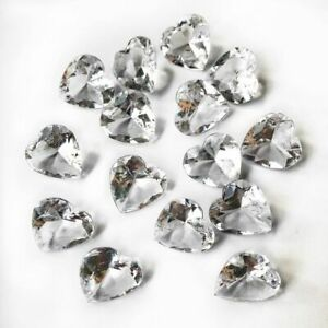 Heart Scatter Crystals Large 2cm Clear Gems For Wedding Table Party Decorations