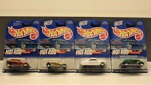 1999 Hot Wheels Hot Rod Magazine Series Cars Qty 33 VCG on card.