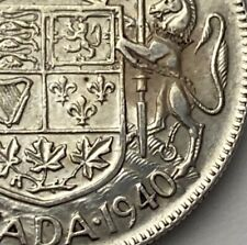 CANADA 1940 50 CENTS Narrow Date KING GEORGE VI  .800 SILVER  C25