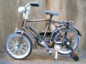 Great Quality Handmade Model Metal Bicycle 22 cm Vintage Working Chain & Wheels