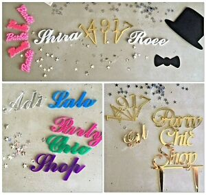 Laser Cut Acrylic Wedding Guests Names Place Cards, Gift & Event Keepsake [1-10]